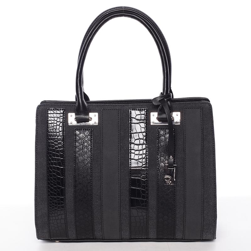 Luxusní černá dámská kabelka do ruky - David Jones Sannaj