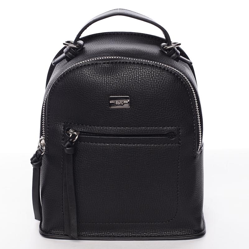 Malý dámský černý městský batůžek/kabelka - David Jones Leonidas