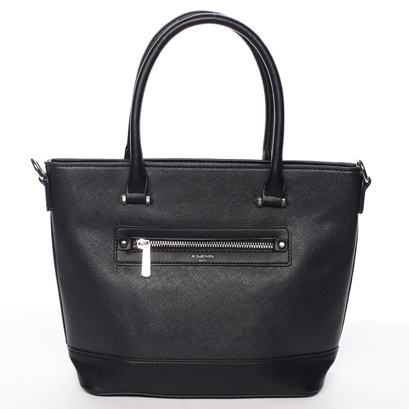 Módní dámská kabelka do ruky černá saffiano - David Jones Klarisa