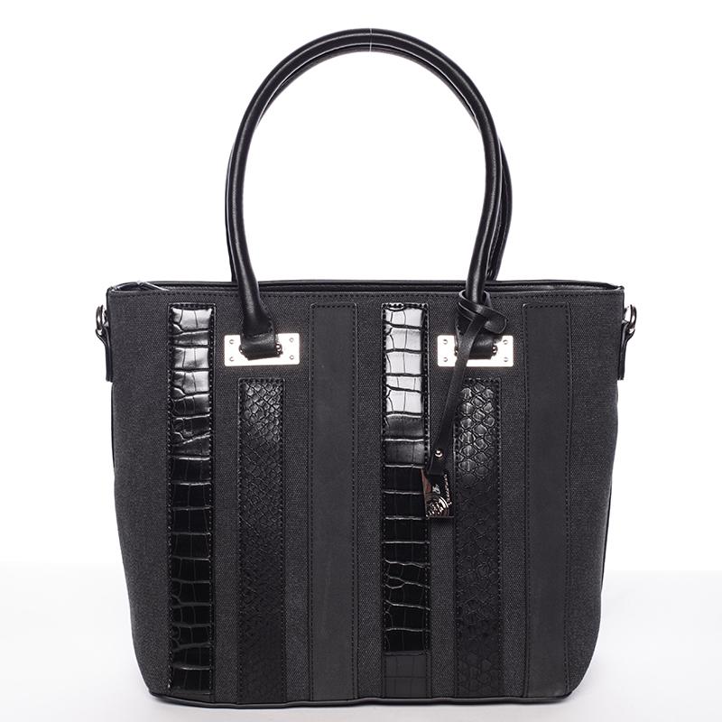Větší módní černá dámská kabelka - David Jones Leitha