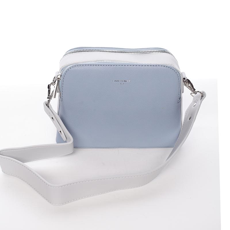 Stylová crossbody kabelka modro šedá - David Jones Resley