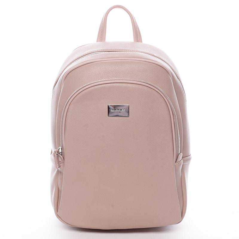 Dámský měkký městský batoh růžový - David Jones Beatrice