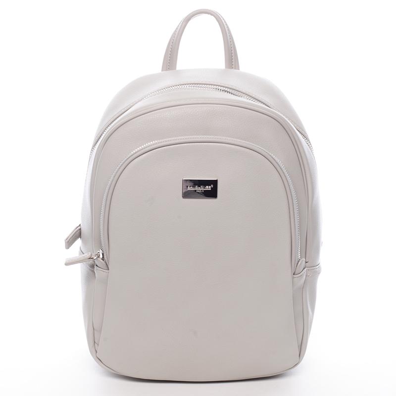 Dámský měkký městský batoh šedý - David Jones Beatrice