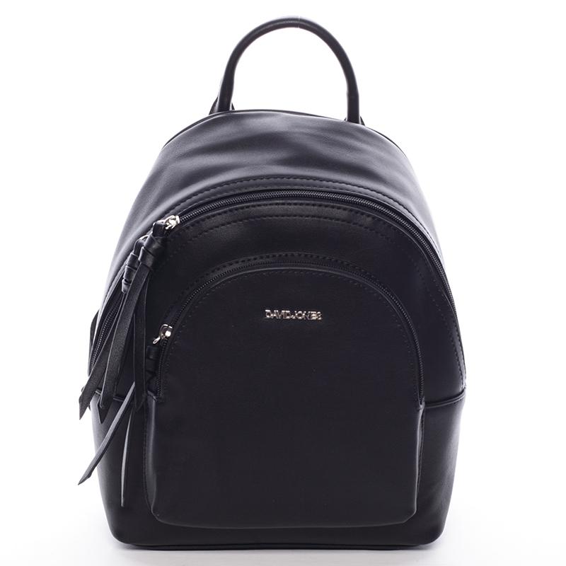 Dámský měkký městský batoh černý - David Jones Letta
