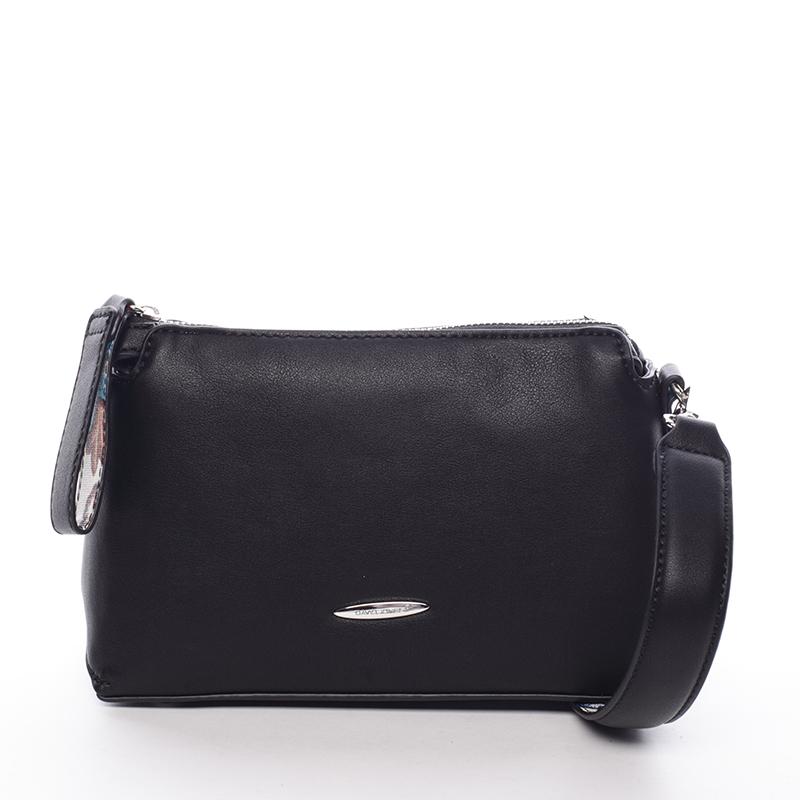 Elegantní dámská crossbody kabelka černá - David Jones Letha