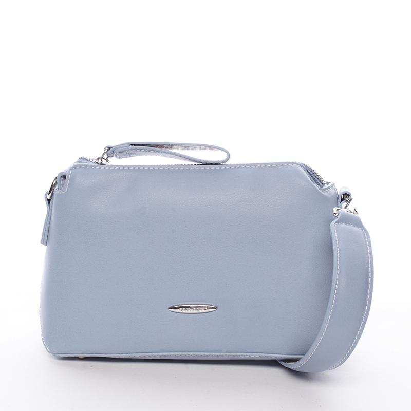 Elegantní dámská crossbody kabelka světle modrá - David Jones Letha