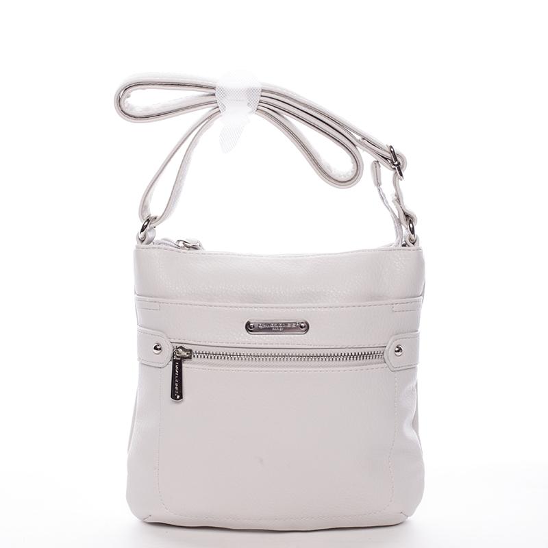 Dámská crossbody kabelka krémově šedá - David Jones Diannah