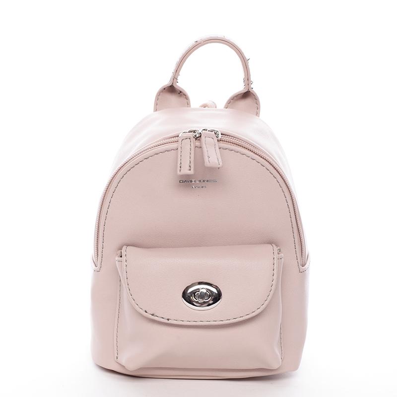 Malý originální batůžek růžový - David Jones Lennan