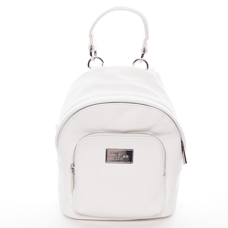 Malý dámský batůžek bílý - David Jones Zinhar