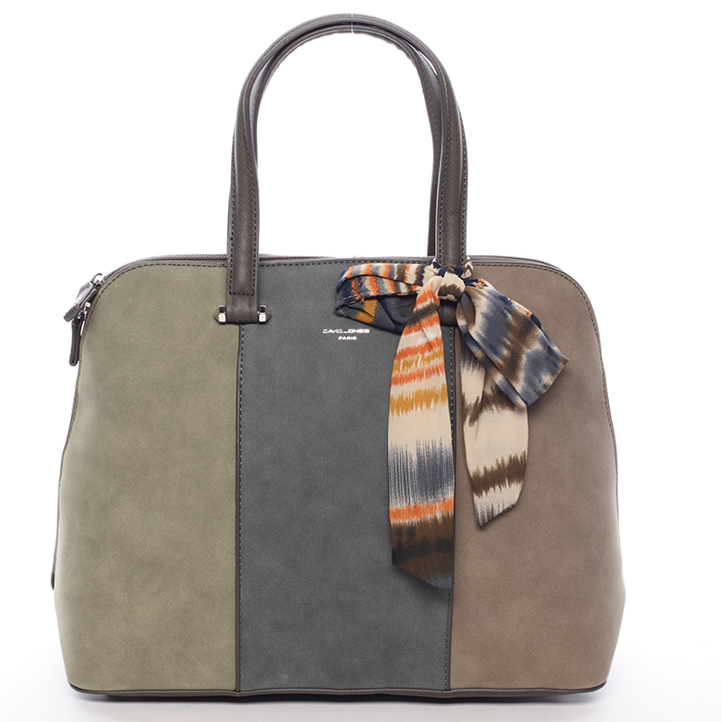 Trendy khaki kabelka do ruky - David Jones Josie