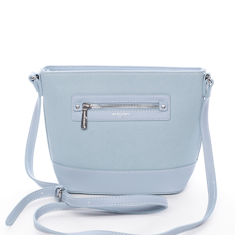 Módní dámská crossbody kabelka světle modrá saffiano - David Jones Larisa