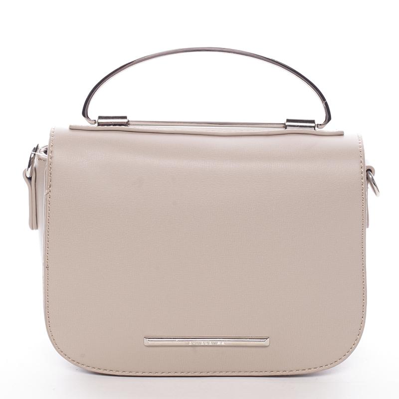 Malá luxusní béžová kabelka do ruky - David Jones Layna
