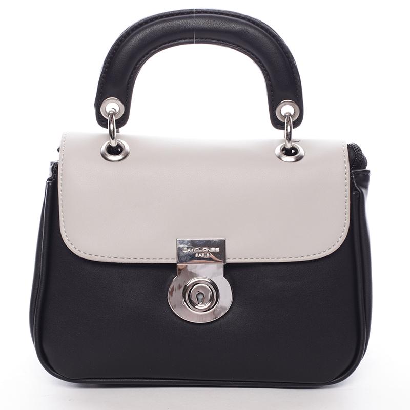 Originální černo šedá dámská kabelka do ruky - David Jones Latona