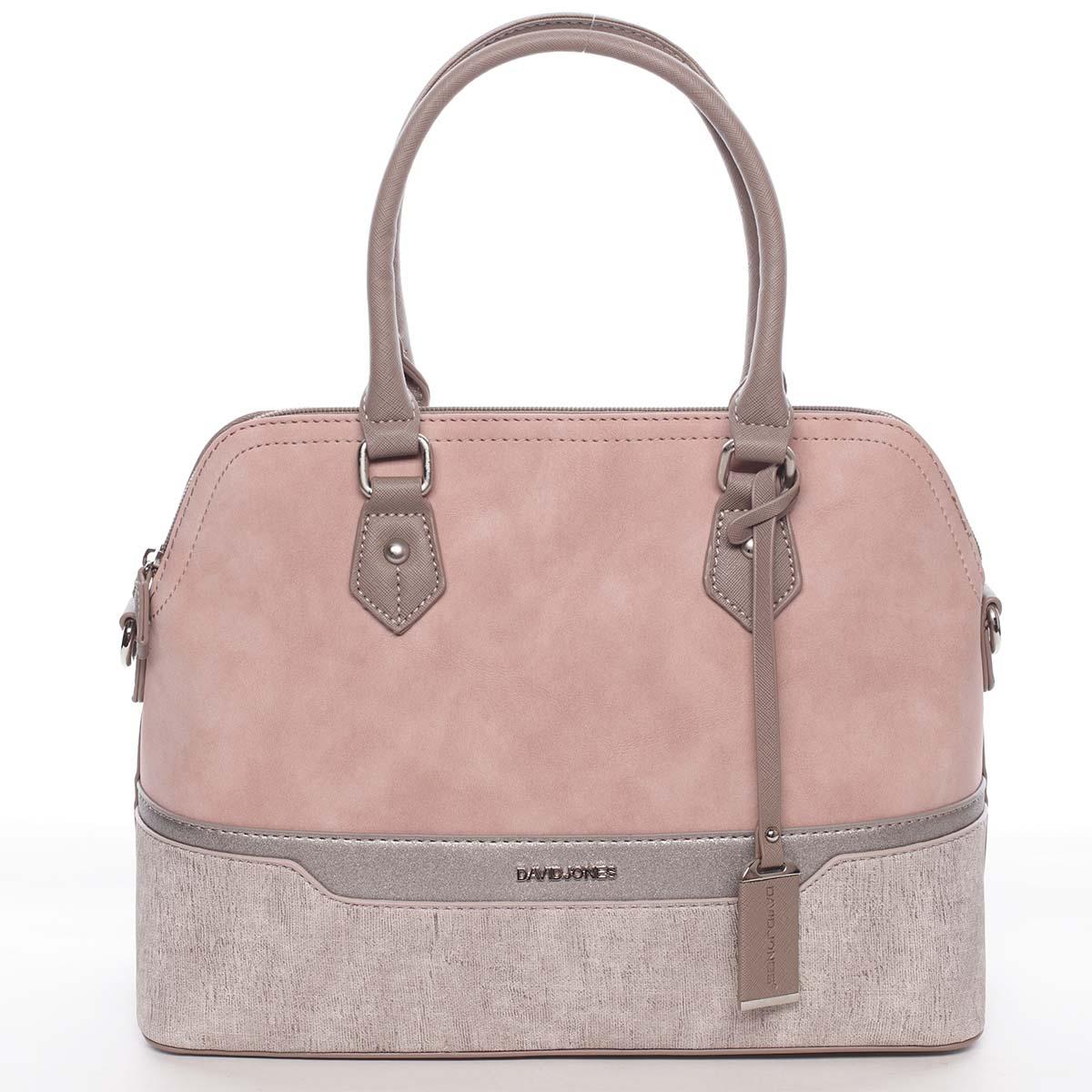 Větší originální a stylová růžová dámská kabelka - David Jones Valerie