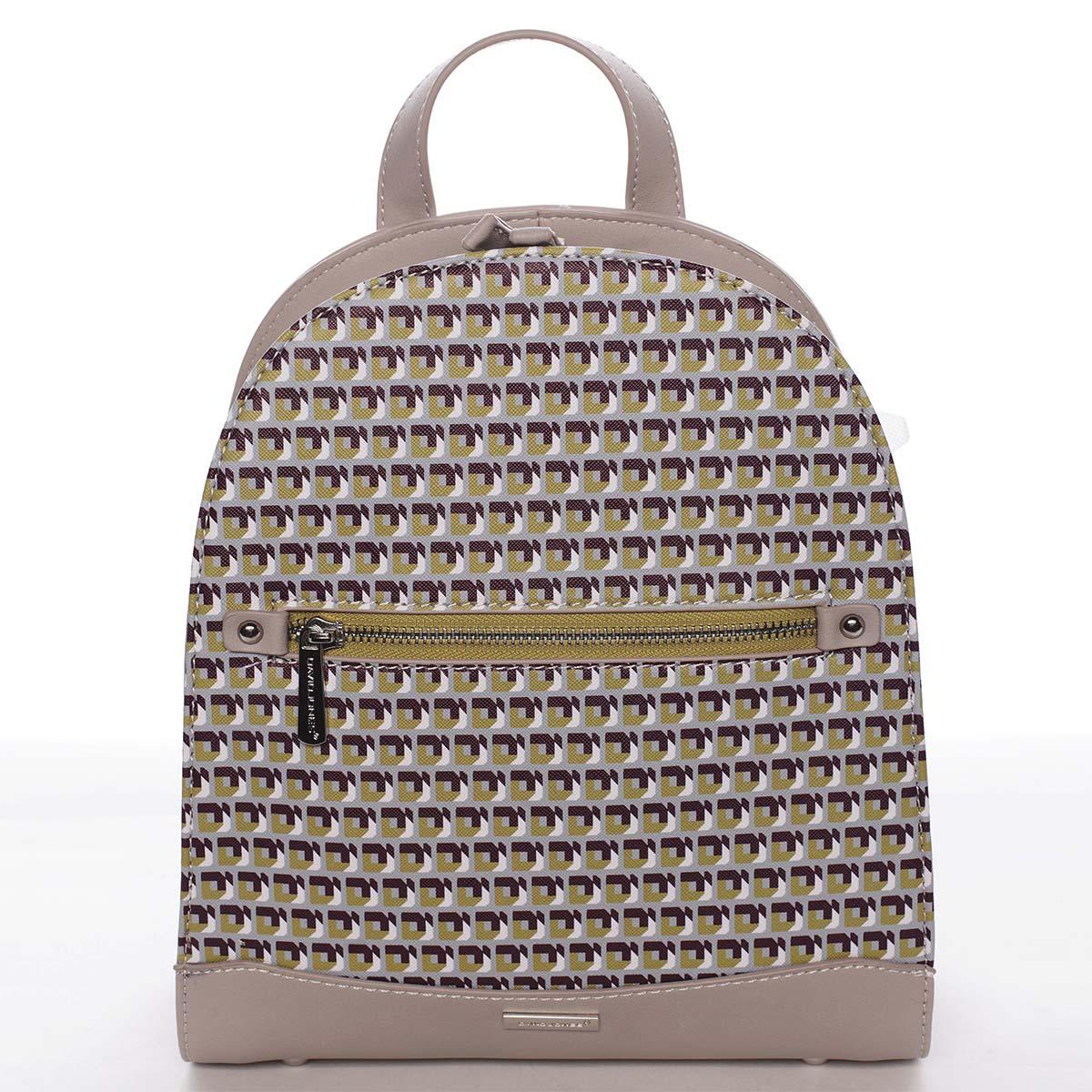 Exkluzivní světle šedý městský batoh - David Jones JeanPierre