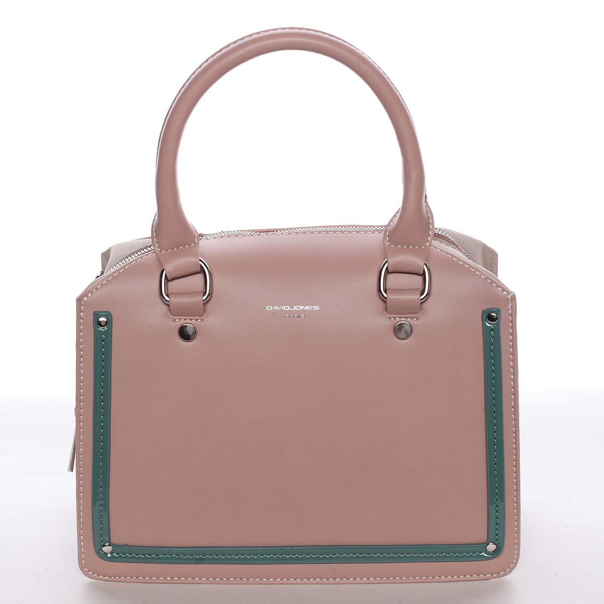 Malá originální dámská kabelka do ruky růžová - David Jones Aglaia