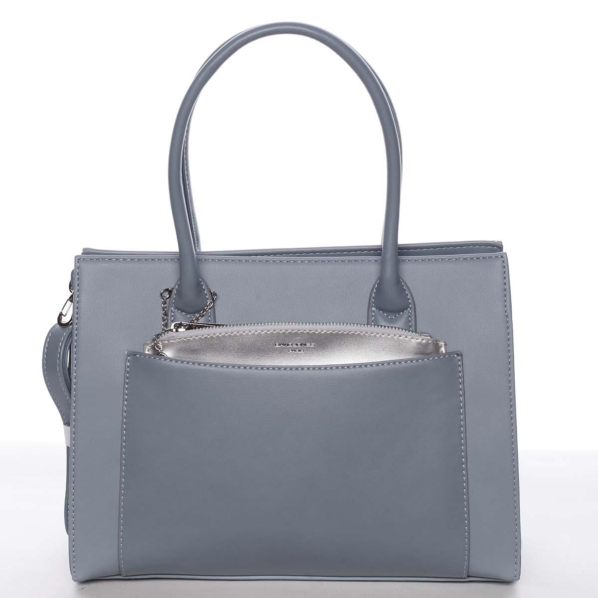 Exkluzivní dámská pastelově modrá kabelka - David Jones Hillary