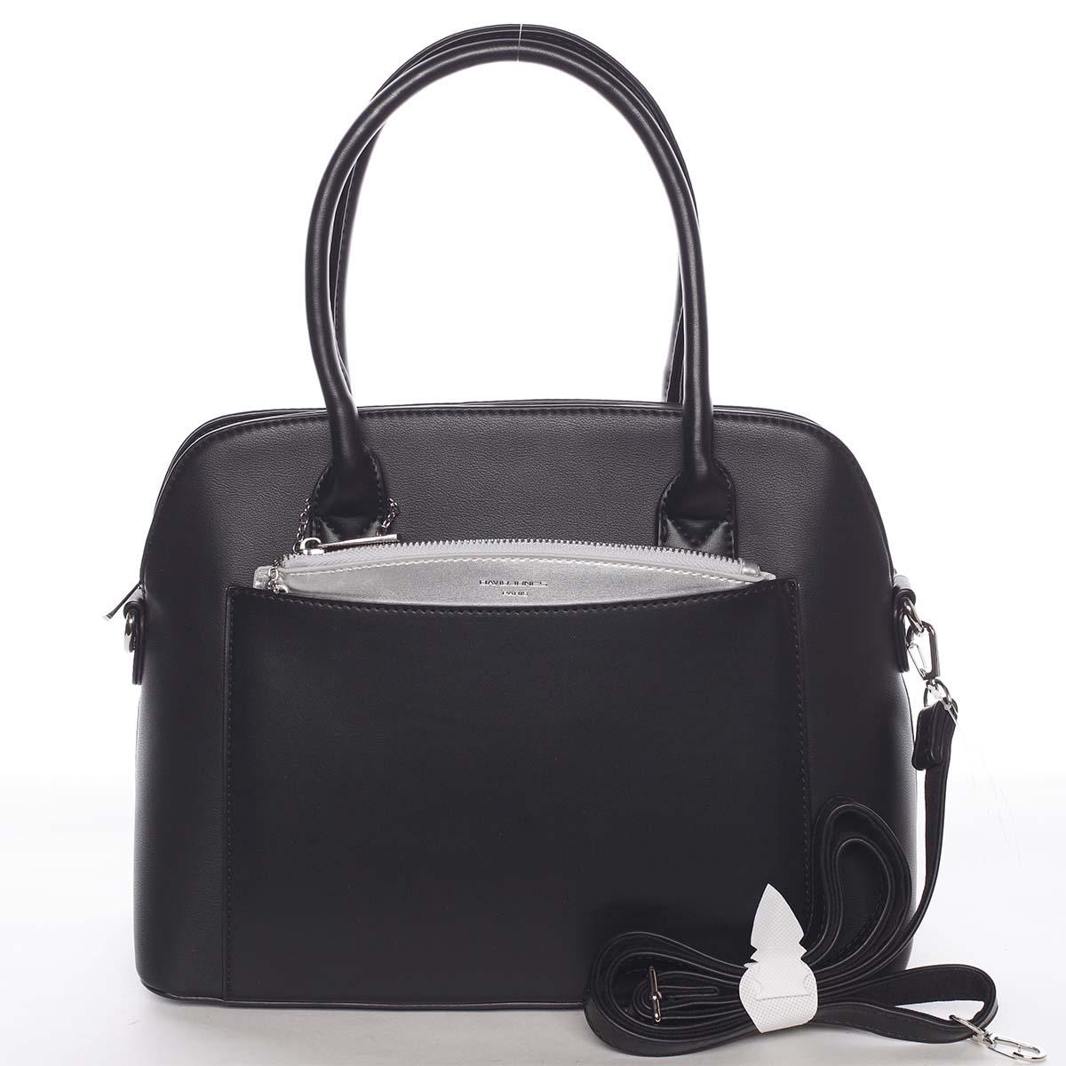 Exkluzivní dámská černá zaoblená kabelka - David Jones Hiliery