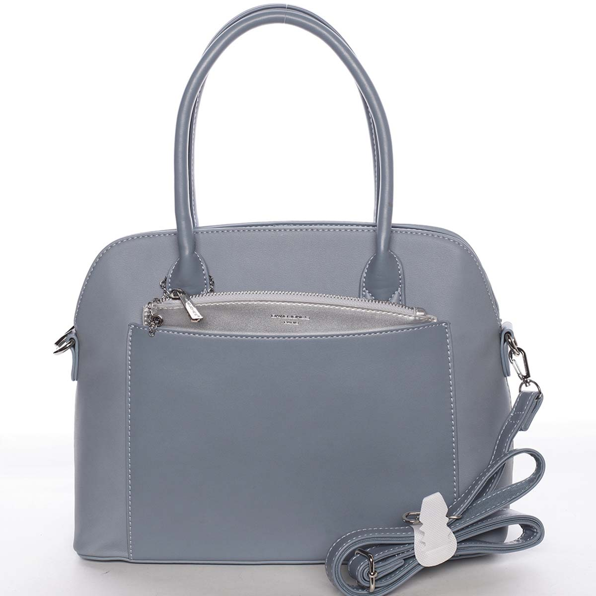 Exkluzivní dámská pastelově modrá zaoblená kabelka - David Jones Hiliery