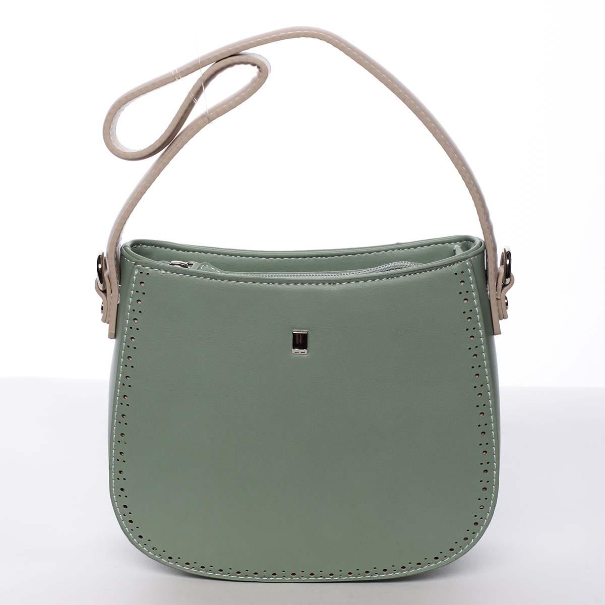 Elegantní listová crossbody kabelka zelená - David Jones Brigitte
