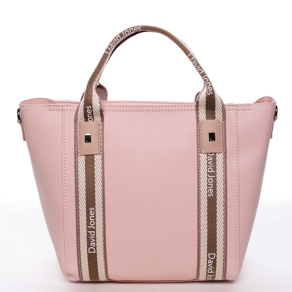 Moderní dámská růžová kabelka do ruky - David Jones Agna