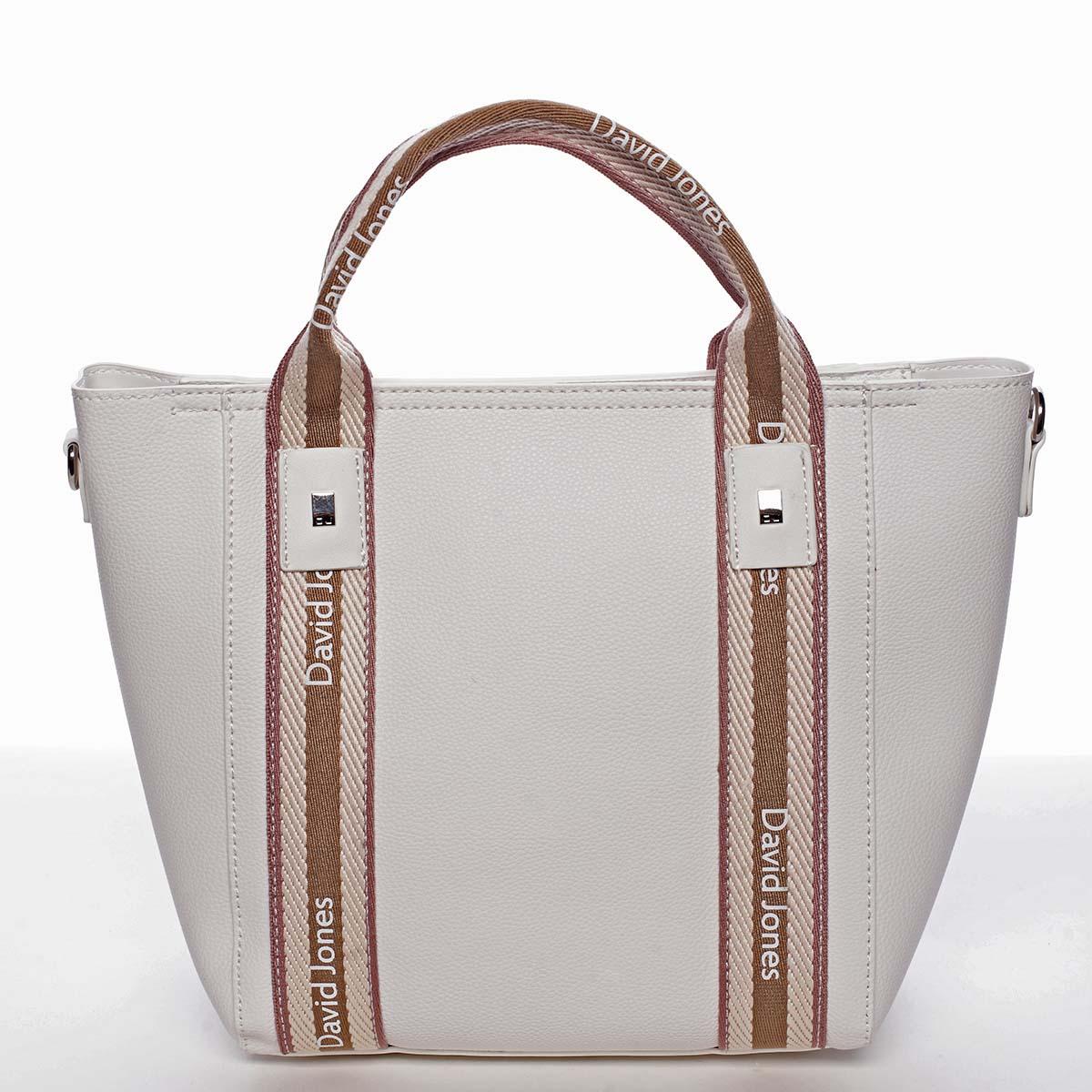 Moderní dámská bílá kabelka do ruky - David Jones Agna