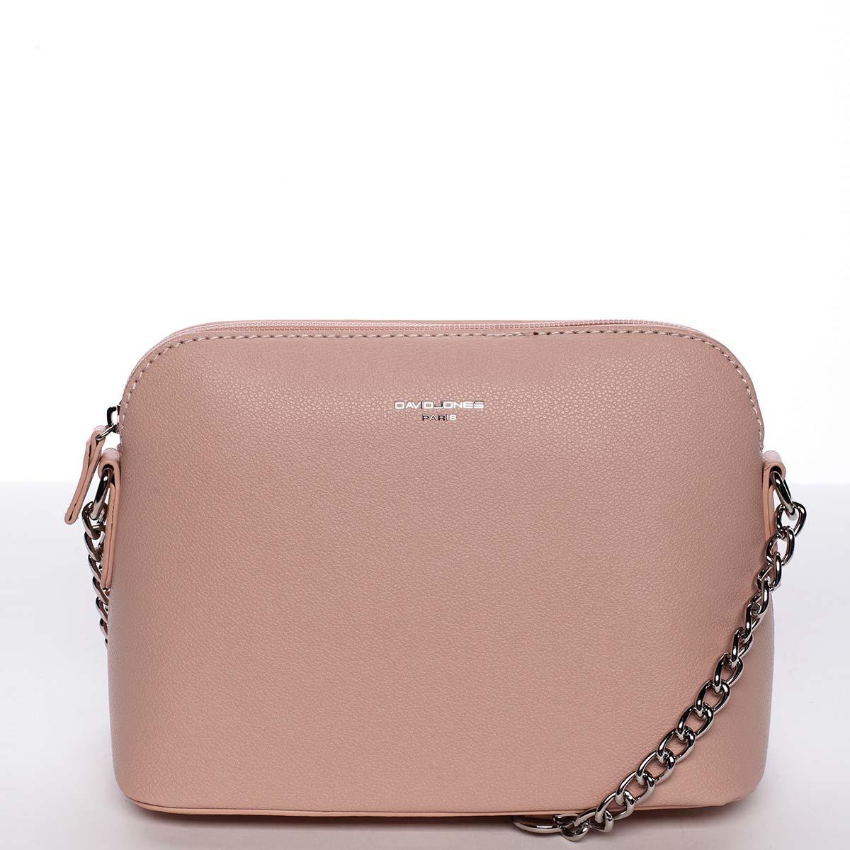 Osobitá a elegantní dámská růžová crossbody kabelka - David Jones Milagros