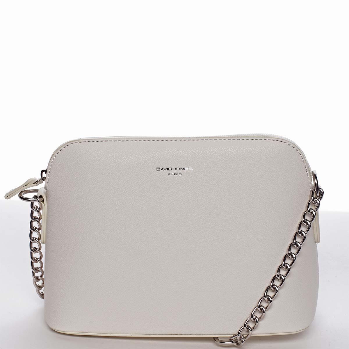 Osobitá a elegantní dámská bílá crossbody kabelka - David Jones Milagros