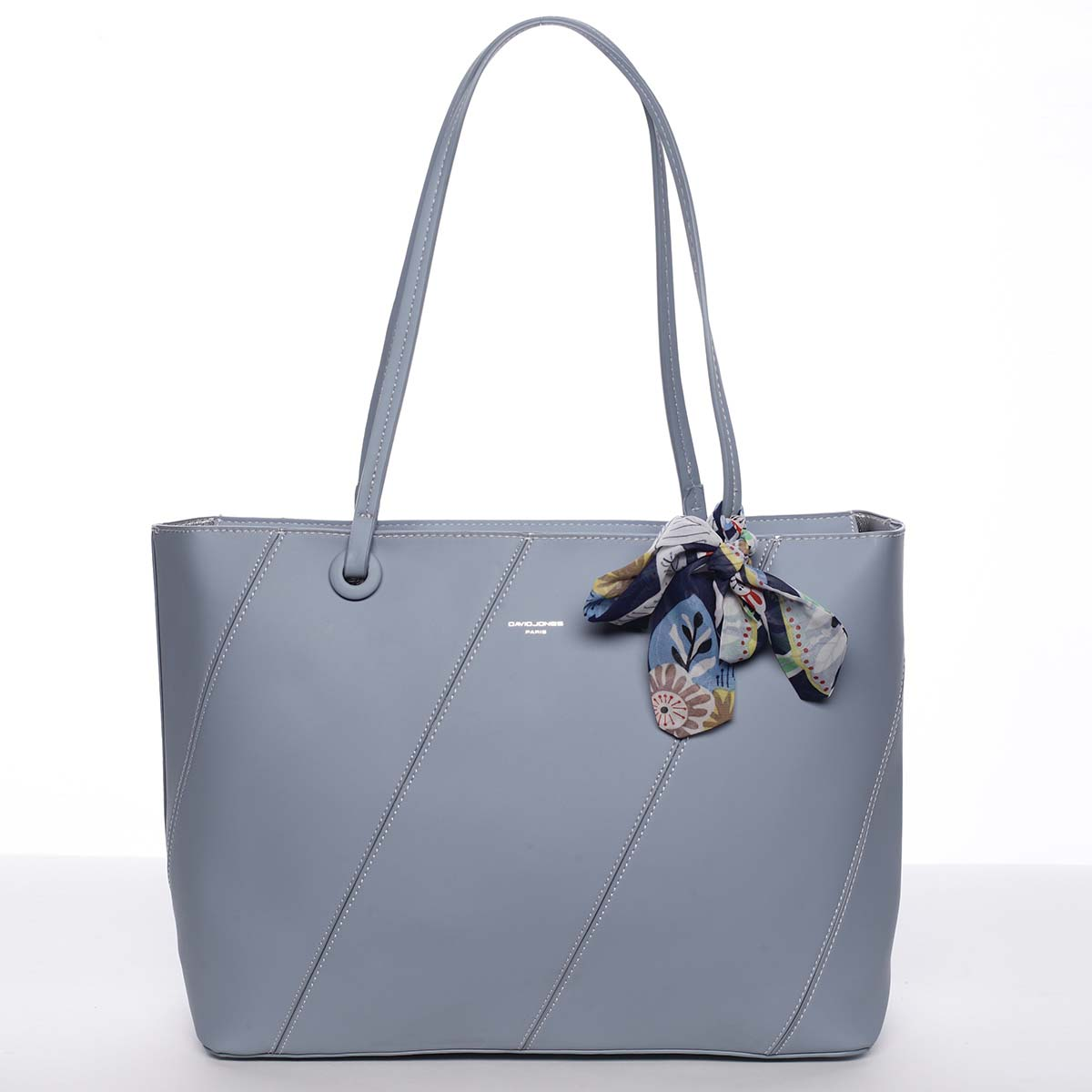 Velká elegantní a originální dámská světle modrá kabelka přes rameno - David Jones Keiko
