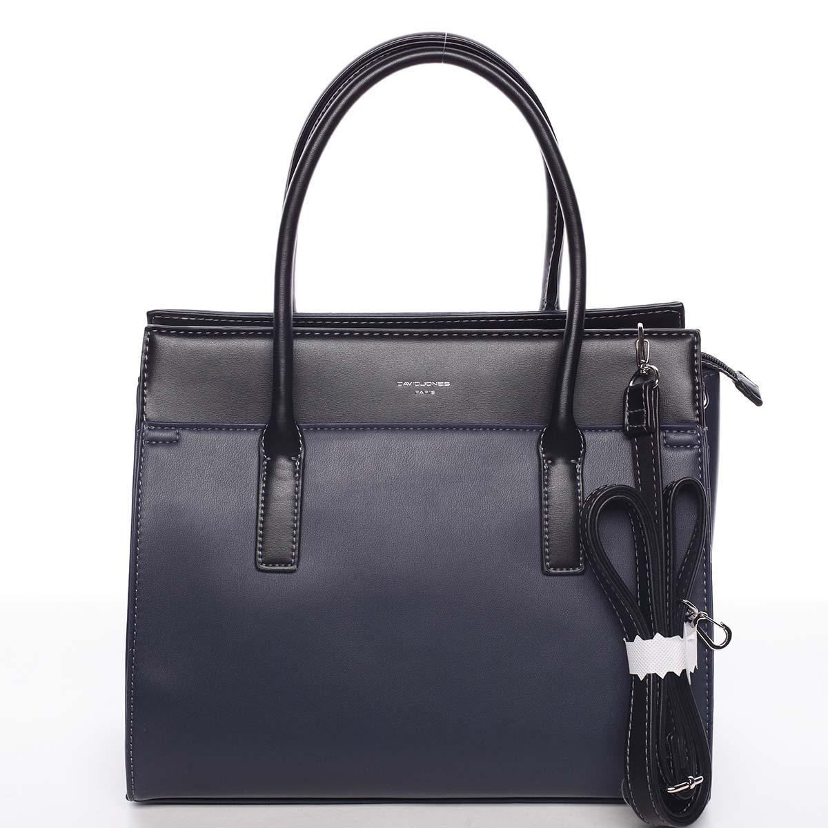 Dámská stylová a elegantní tmavě modrá kabelka - David Jones Gia