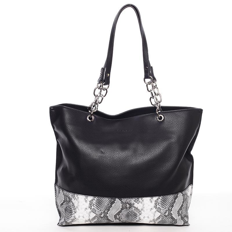 Velká prostorná dámská kabelka černá - David Jones Ajoga