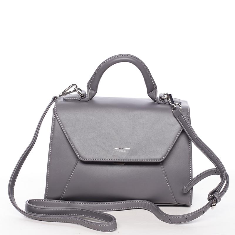Elegantní dámská kabelka do ruky tmavě šedá - David Jones Sukaw