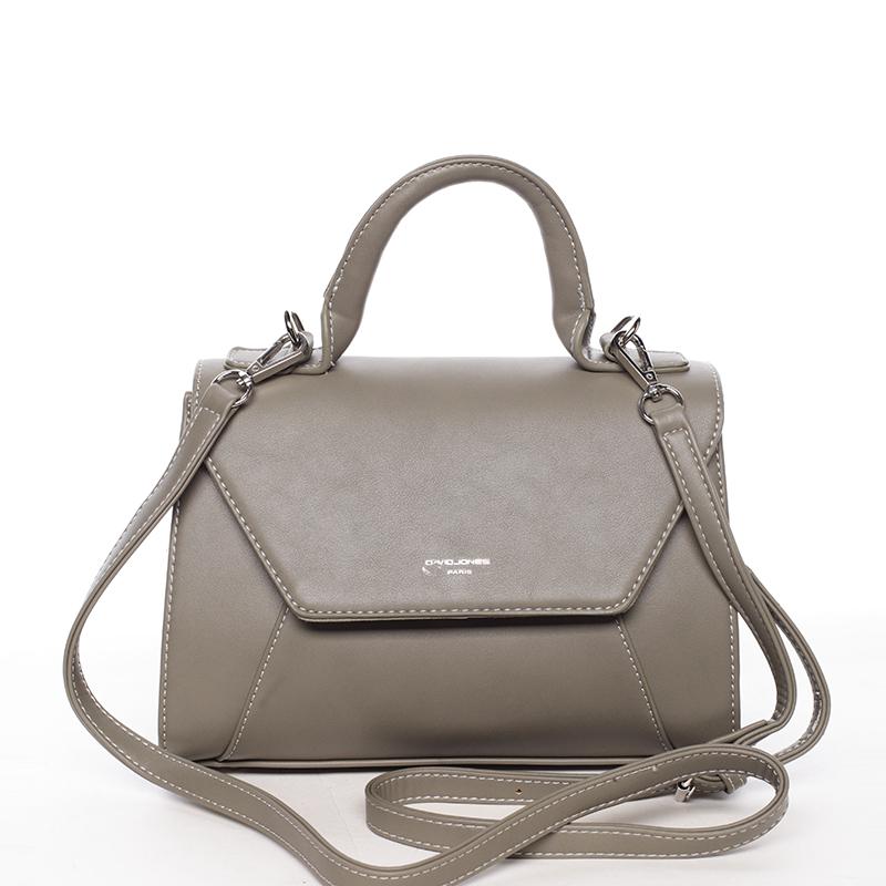 Elegantní dámská kabelka do ruky khaki - David Jones Sukaw