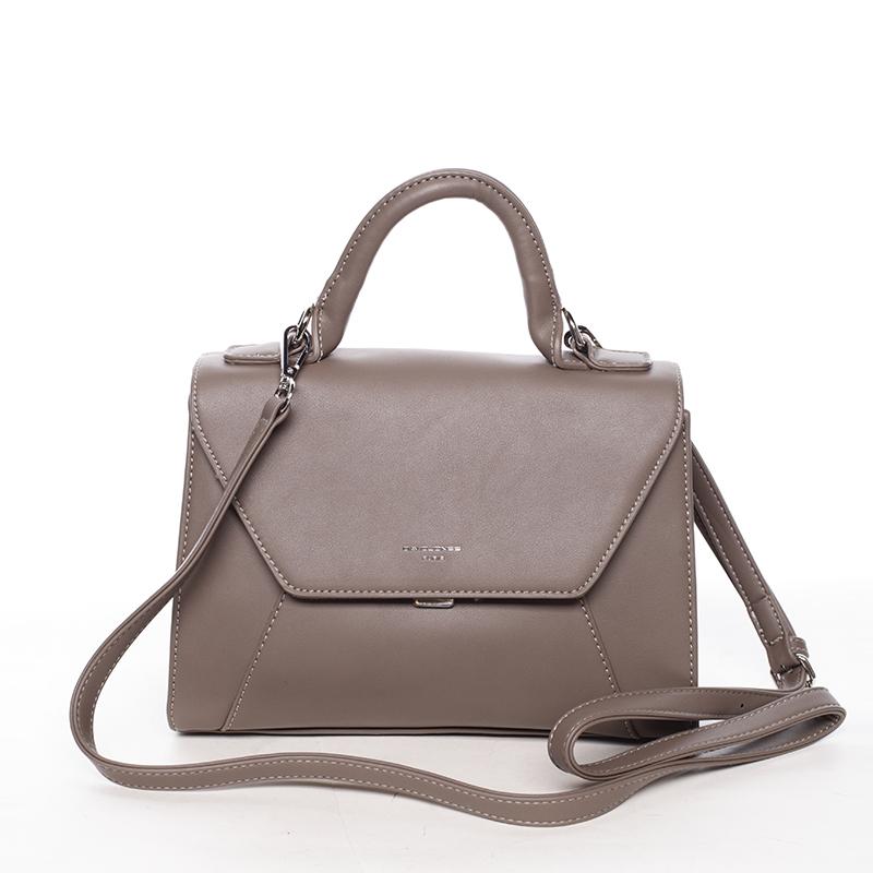 Elegantní dámská kabelka do ruky tmavá taupe - David Jones Sukaw