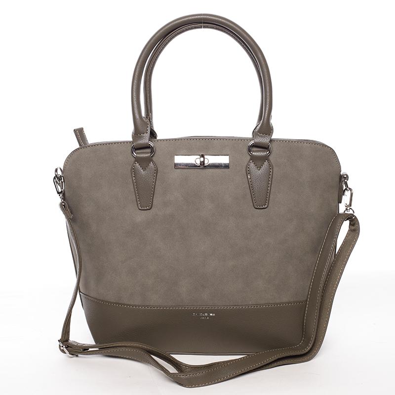 Dámská elegantní khaki kabelka - David Jones Arisia