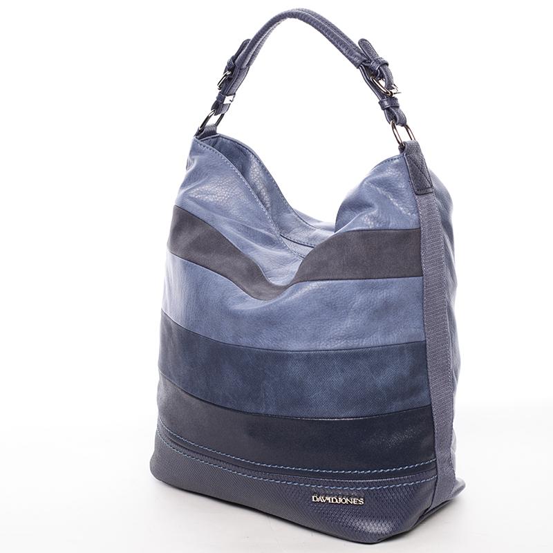 Módní velká dámská kabelka přes rameno modrá - David Jones Vardana