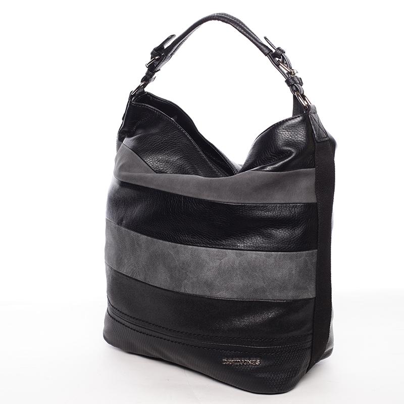 Módní velká dámská kabelka přes rameno černá - David Jones Vardana