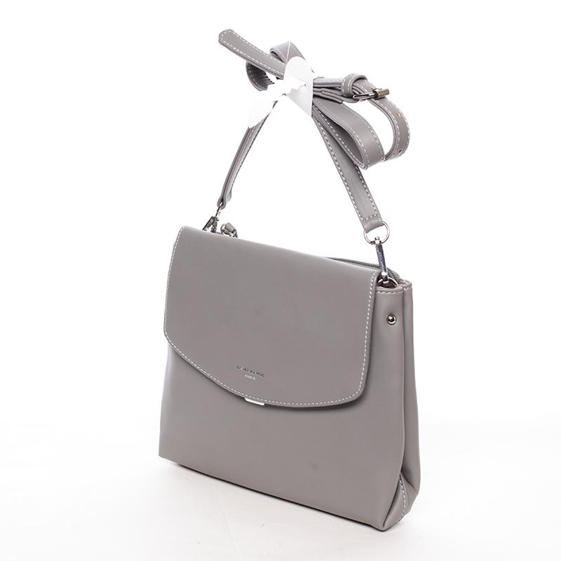 Dámská crossbody kabelka tmavě šedá - David Jones Ankara
