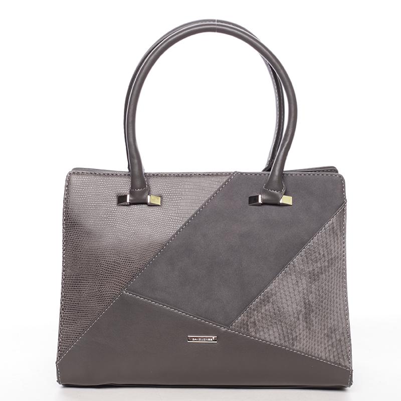 Luxusní tmavě šedá dámská kabelka do ruky - David Jones Manileas