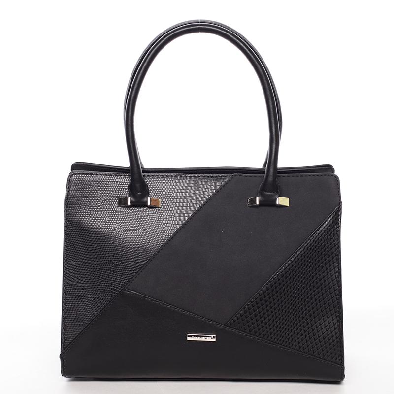 Luxusní černá dámská kabelka do ruky - David Jones Manileas