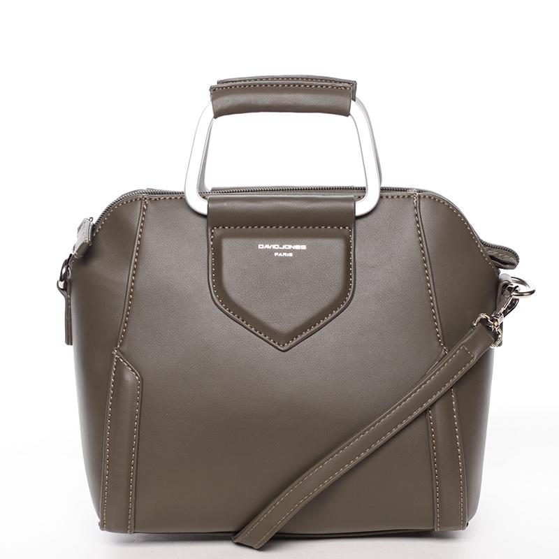 Exkluzivní menší dámská kabelka do ruky khaki - David Jones Ezuria