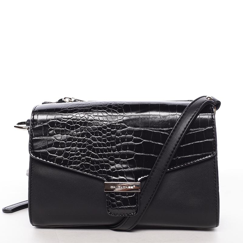 Luxusní dámská crossbody kabelka černá - David Jones Hebbi