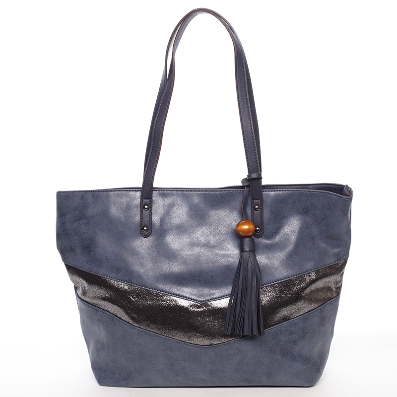 Velká módní trendy kabelka přes rameno tmavě modrá - David Jones Chetona
