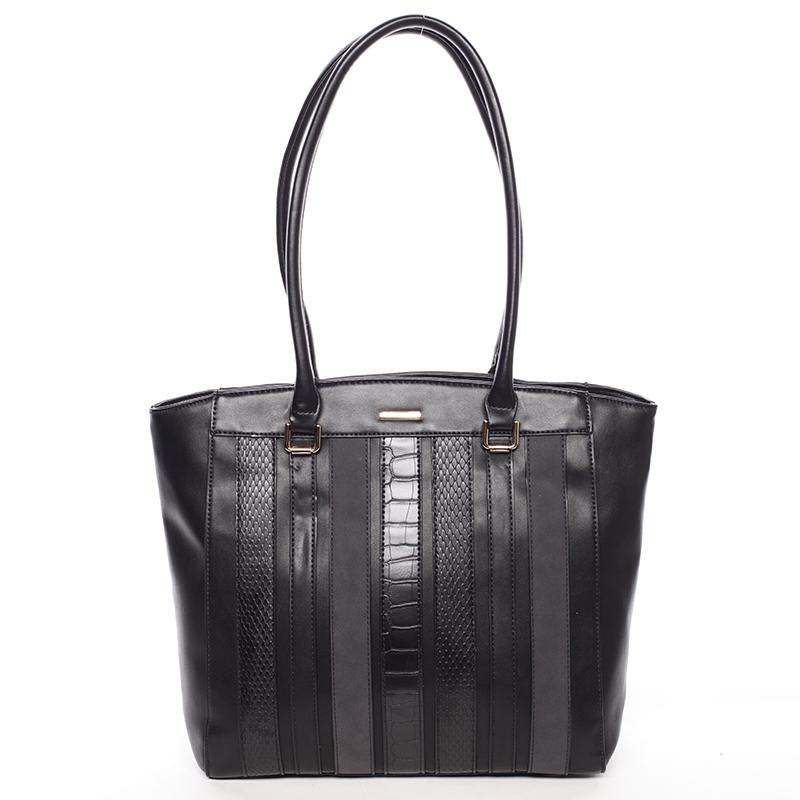 Módní černá dámská kabelka přes rameno - David Jones Jenna