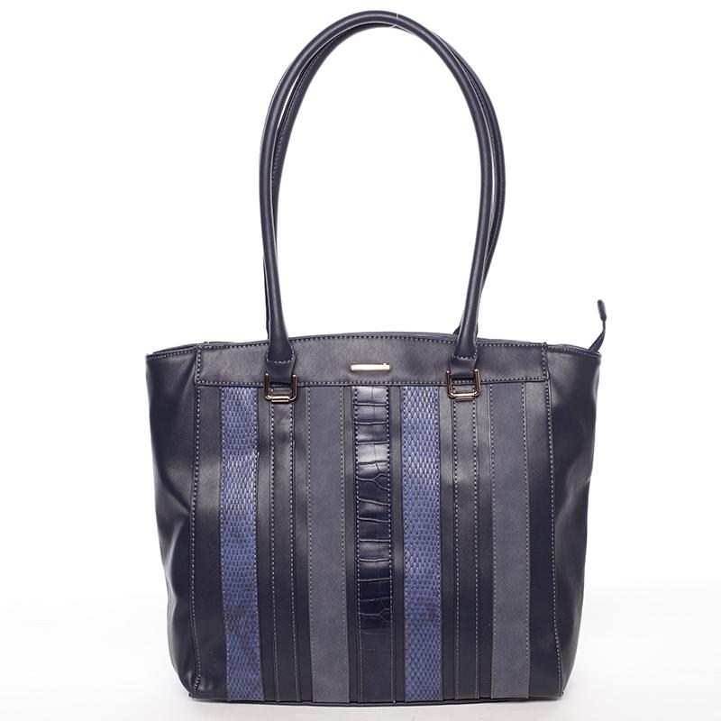Módní tmavě modrá dámská kabelka přes rameno - David Jones Jenna