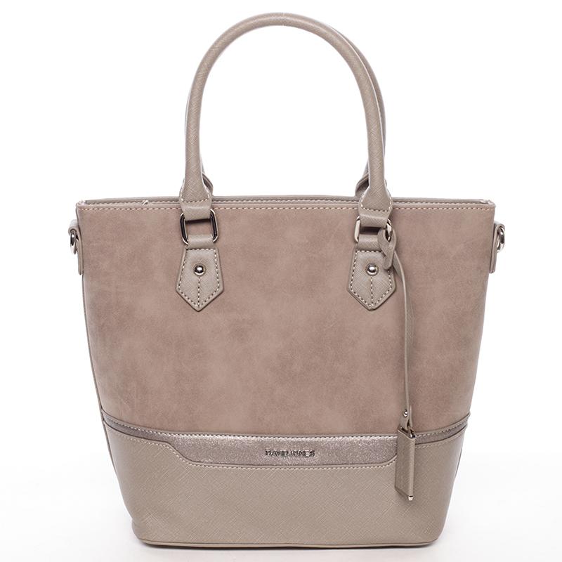 Trendy dámská kabelka do ruky taupe - David Jones Teherra