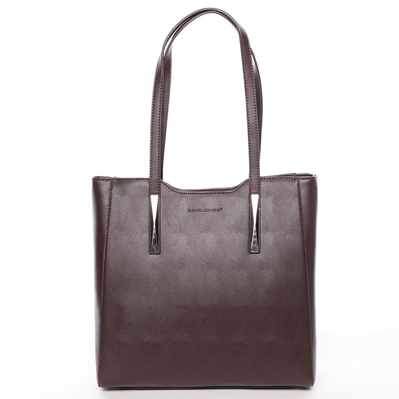 Elegantní tmavá hnědá dámská kabelka přes rameno - David Jones Cornelina