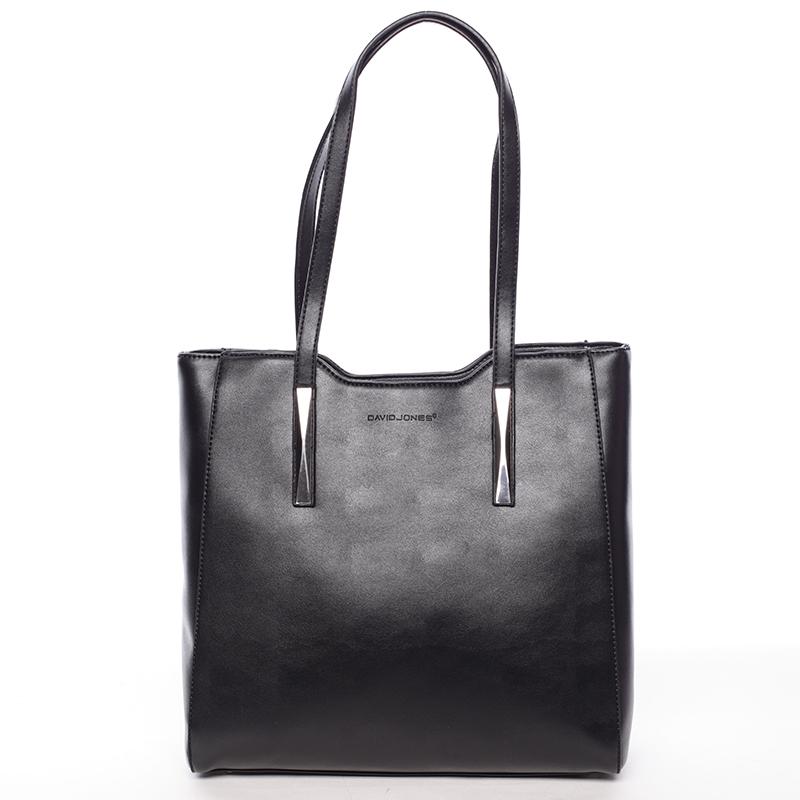 Elegantní černá dámská kabelka přes rameno - David Jones Cornelina