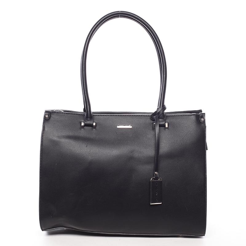 Velká elegantní černá dámská kabelka přes rameno - David Jones Eiria