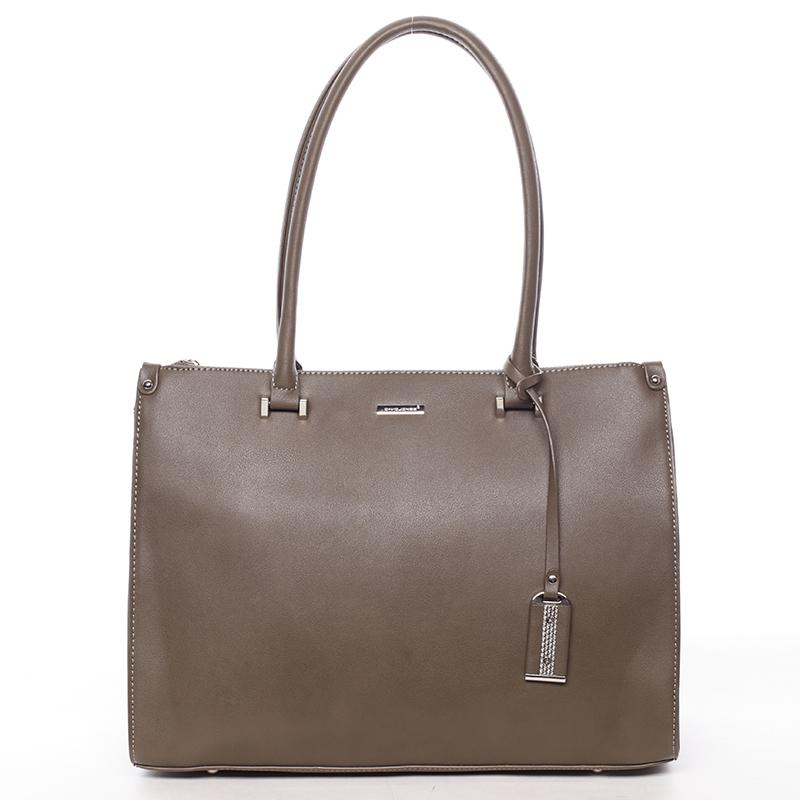 Velká elegantní khaki dámská kabelka přes rameno - David Jones Eiria